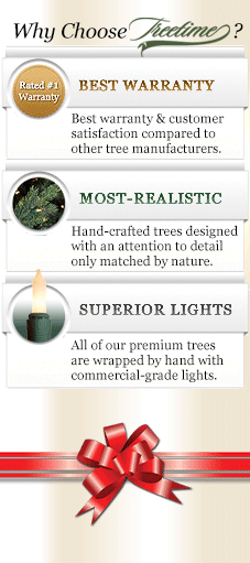 Shop Treetime's selection of realistic artificial Christmas trees
